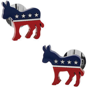 Ox & Bull Trading Co. Men's Stainless Steel Democratic Donkey Cufflinks