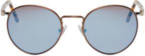 Persol Brown Tortoiseshell Round Sunglasses