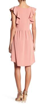 BCBGeneration Flutter Sleeve A-Line Dress
