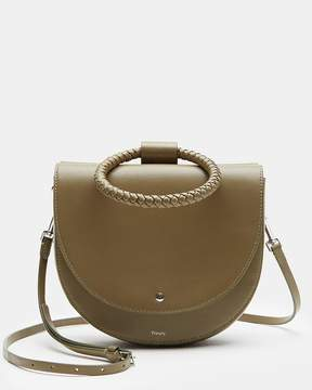 Theory Large Whitney Bag With Braid Hoop in Nappa Leather