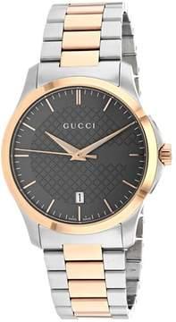 Gucci G-Timeless Grey Dial Two-tone Unisex Watch YA126446