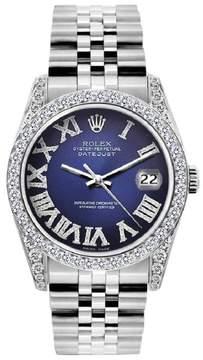 Rolex Datejust Stainless Steel & Diamond 36mm Mens Watch