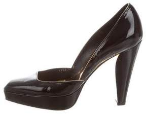 Barbara Bui Patent Leather Square-Toe Pumps