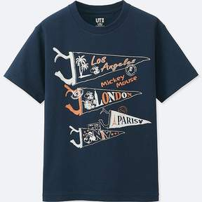 Uniqlo Boy's Mickey Travels Short-sleeve Graphic T-Shirt