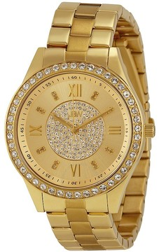 JBW Mondrian Gold Diamond Dial 18k Gold Plated Stainless Steel Ladies Watch