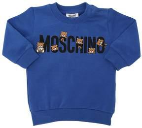 Moschino Logo Printed Cotton Sweatshirt