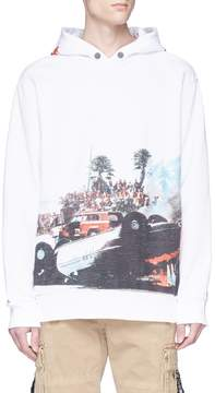 Palm Angels 'Burning Car' photographic print hoodie