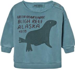 Bobo Choses Blue Otariinae Print Sweatshirt