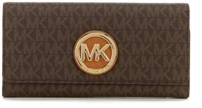 MICHAEL Michael Kors Fulton Signature Carryall Wallet - BROWN - STYLE