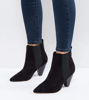Asos BELIEVE Wide Fit Heeled Ankle Boots