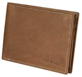 Steve Madden Antique Leather Passcase Wallet