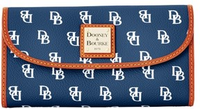 Dooney & Bourke Gretta Continental Clutch Wallet - NAVY WHITE - STYLE