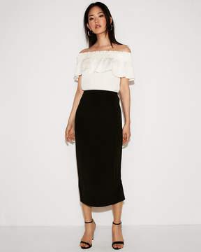 Express High Waisted Midi Pencil Skirt