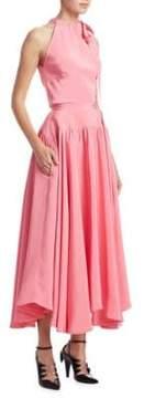 Calvin Klein Americana Silk Flare Dress