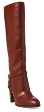 Ralph Lauren Laysa Luxe Calfskin Boot Chestnut 7.5