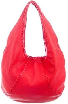 Bottega Veneta Intrecciato-Trimmed Cervo Hobo Bag