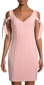 Alexia Admor Tie-Sleeve V-Neck Bodycon Dress