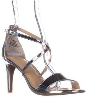 Thalia Sodi Ts35 Darria Cross Strap Evening Sandals, Silver.