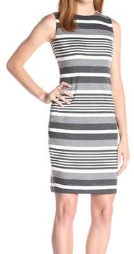 Calvin Klein Women's Striped Knit Sheath Dress