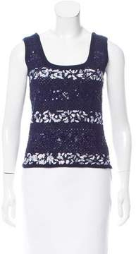 Christian Dior Embellished Open-Knit Top