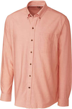 Cutter & Buck Orange Long-Sleeve Oxford Shirt - Men