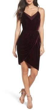 Adelyn Rae Women's Francine Velvet Sheath Dress