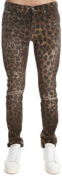 R 13 Leopard Skate Jean