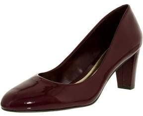 Lauren Ralph Lauren Lauren Ralph Women's Hala-Pm-Drs Leather Claret Ankle-High Pump - 8.5M