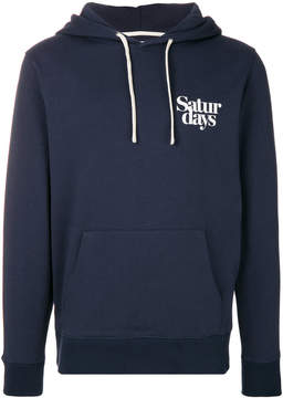 Saturdays NYC logo hooded sweatshirt