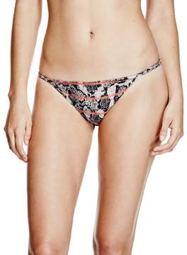 GUESS Women's Snake Brief Bikini Bottoms