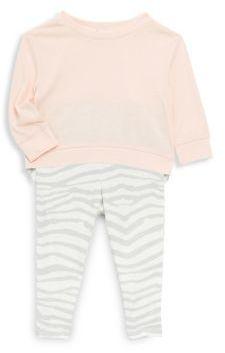 Splendid Baby's Zebra Print Cotton Top and Pants Set