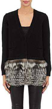 Barneys New York Women's Fur-Trimmed Cashmere Cardigan Sweater