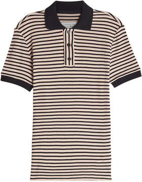 Maison Margiela Striped Cotton Polo Top