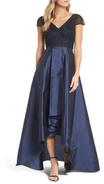 Adrianna Papell Beaded High/Low Gown