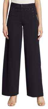 Ralph Lauren Collection Iconic Ashley Wide-Leg Wool Sailor Pants