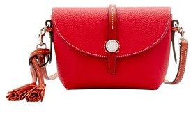 Dooney & Bourke Cambridge Crossbody Saddle Bag Shoulder Bag. - RED - STYLE