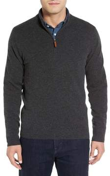 Nordstrom Cashmere Quarter Zip Sweater (Big)