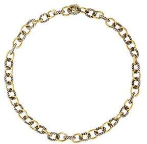 David Yurman Two-Tone Medium Oval Link Chain Necklace