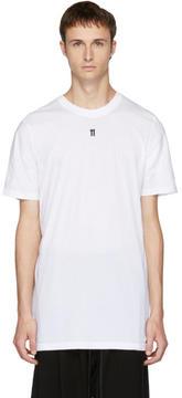11 By Boris Bidjan Saberi White Small Logo T-Shirt