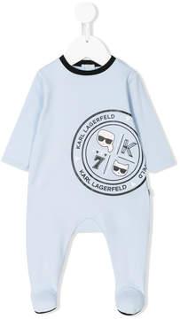 Karl Lagerfeld logo print pajamas