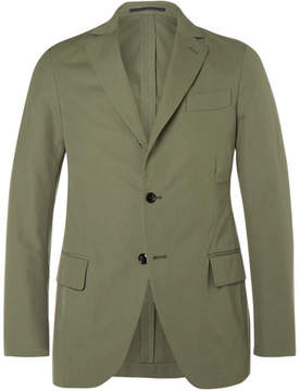 Piombo MP Massimo Green Slim-Fit Woven Cotton Suit Jacket