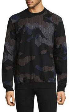 Markus Lupfer Allover Print Camo Judd Sweatshirt