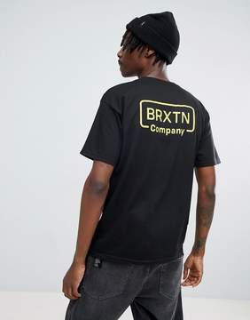 Brixton Crosswhite T-Shirt With Back Print
