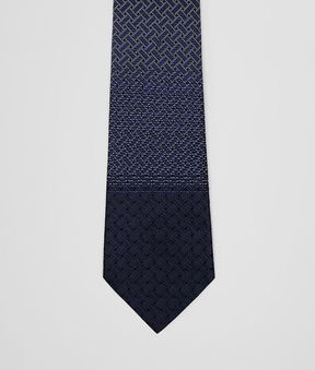 Bottega Veneta Sapphire Blue Silk Tie