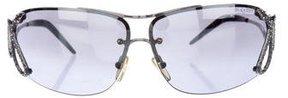 Roberto Cavalli Rimless Embellished Sunglasses