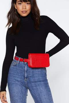Nasty Gal WANT Shake It Off Croc Fanny Pack
