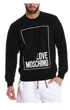 Love Moschino Men's Black Cotton Sweatshirt.
