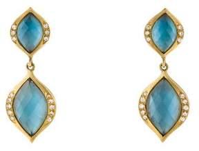 Elizabeth Showers 18K Diamond & Doublet Simone Earrings