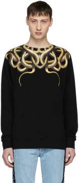 Marcelo Burlon County of Milan Black Snake Sweatshirt