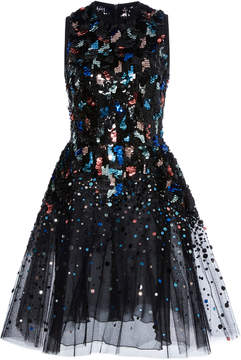 Elie Saab Degrade Sequin Mini Dress